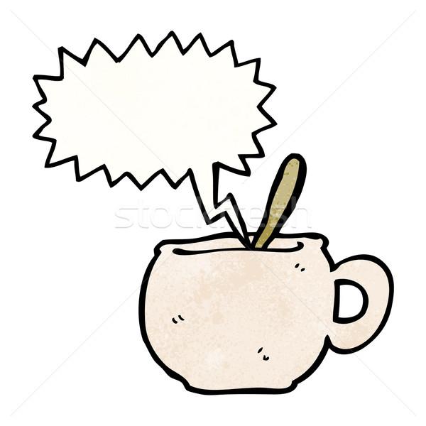 hot mug of soup cartoon  Stock photo © lineartestpilot