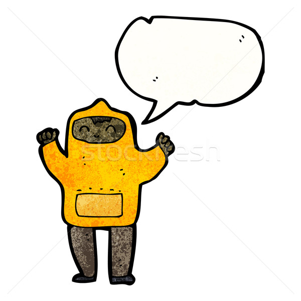 Karikatur Junge Sweatshirt Mann Retro Stock foto © lineartestpilot