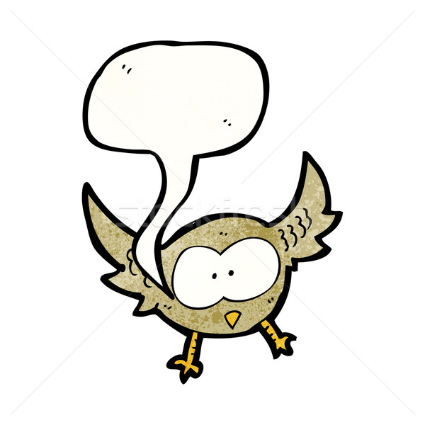 cartoon little owl hooting Stock photo © lineartestpilot