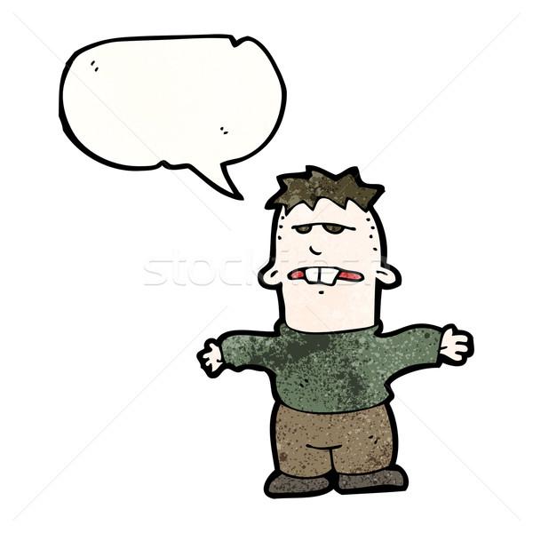 Cartoon feo nino hombre arte retro Foto stock © lineartestpilot