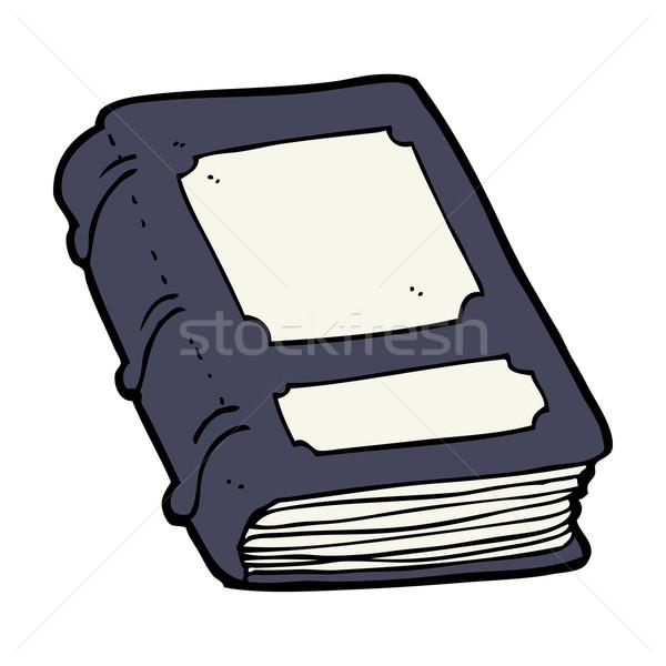 Karikatür eski kitap el kitap dizayn kütüphane Stok fotoğraf © lineartestpilot