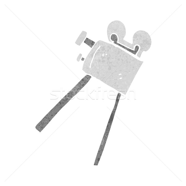 cartoon movie camera Stock photo © lineartestpilot