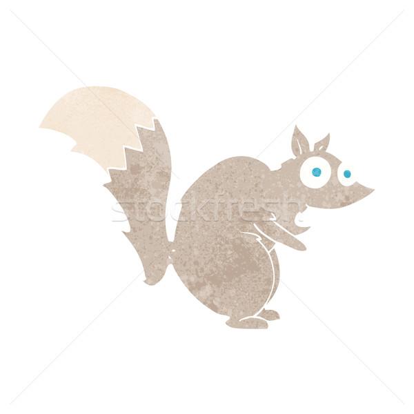 Vicces mókus rajz kéz terv állatok Stock fotó © lineartestpilot