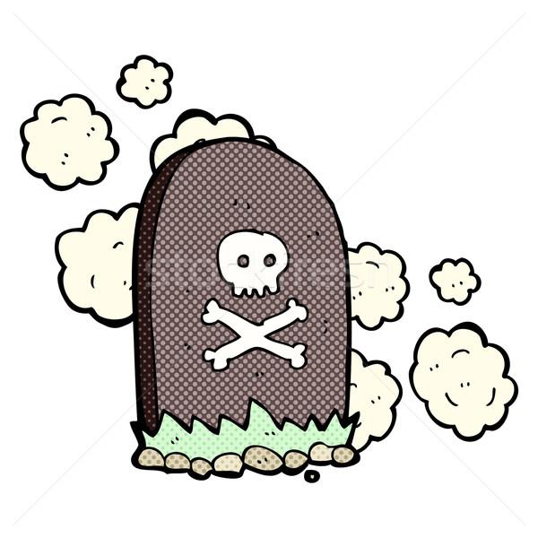 comic cartoon grave Stock photo © lineartestpilot