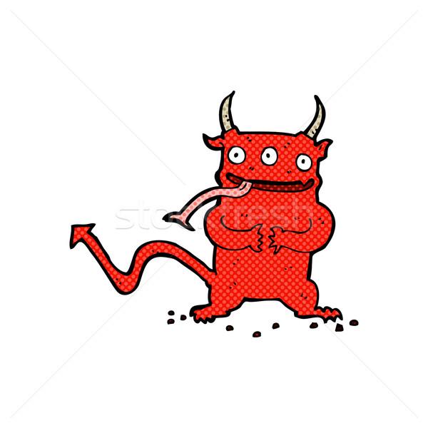 Komiks cartoon mały demon retro komiks Zdjęcia stock © lineartestpilot