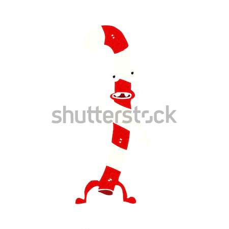 Cartoon danse Noël bonbons canne bulle de pensée Photo stock © lineartestpilot