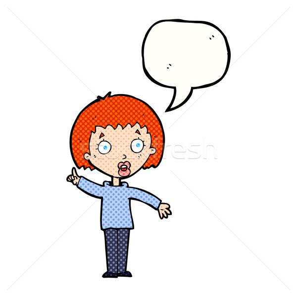 Stock fotó: Rajz · nő · magyaráz · pont · szövegbuborék · kéz