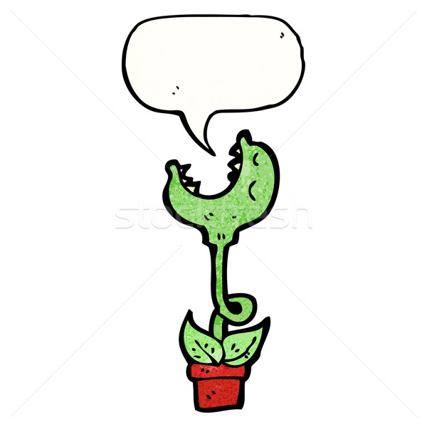 carnivorous plant cartoon Stock photo © lineartestpilot