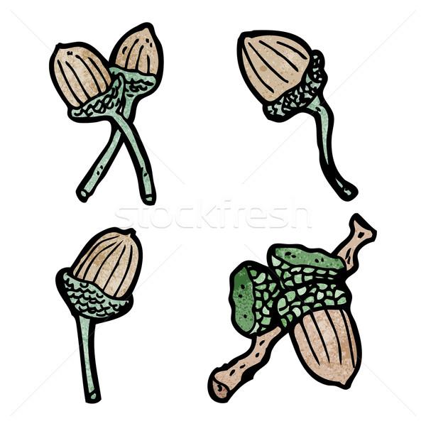 искусства говорить ретро рисунок Cartoon семян Сток-фото © lineartestpilot
