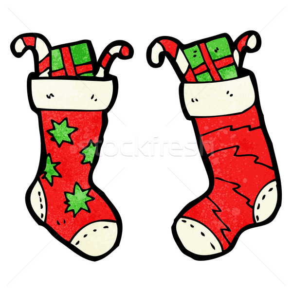 cartoon christmas stockings Stock photo © lineartestpilot
