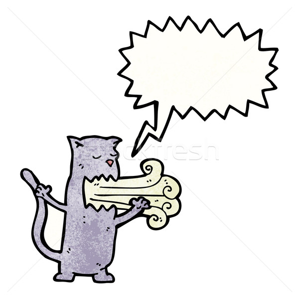 cat with bad breath cartoon Stock photo © lineartestpilot