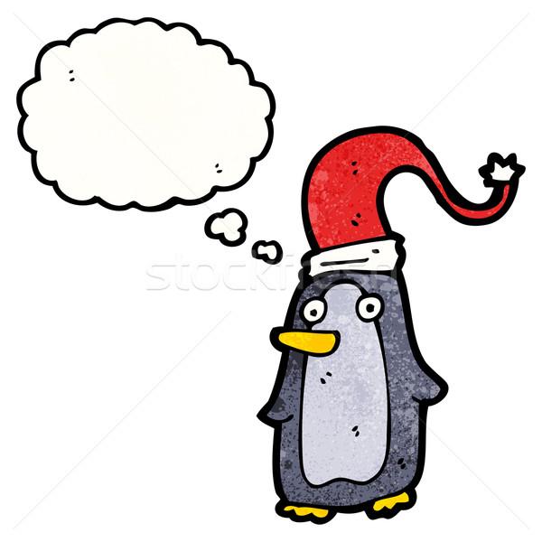 cartoon christmas penguin Stock photo © lineartestpilot