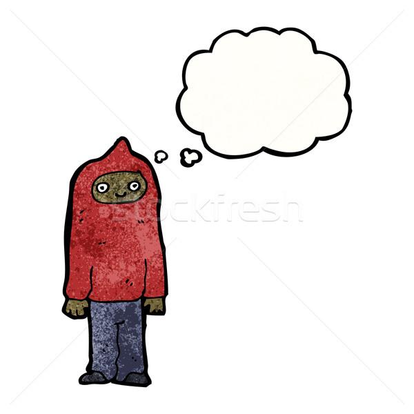 Karikatur Junge Sweatshirt Kunst Retro Stock foto © lineartestpilot