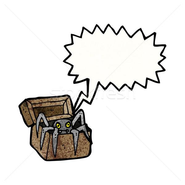 spooky spider cartoon Stock photo © lineartestpilot