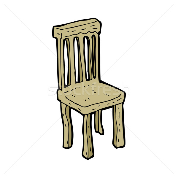 cartoon old wooden chair Stock photo © lineartestpilot