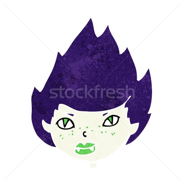 Cartoon вампир голову женщину лице дизайна Сток-фото © lineartestpilot