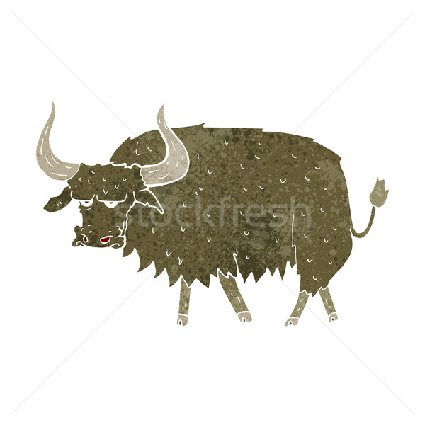 cartoon annoyed hairy cow Stock photo © lineartestpilot