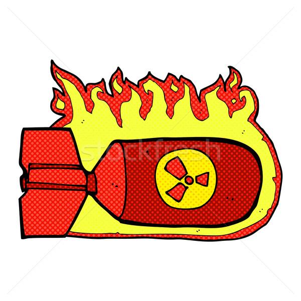Photo stock: Dessinées · cartoon · nucléaire · bombe · rétro