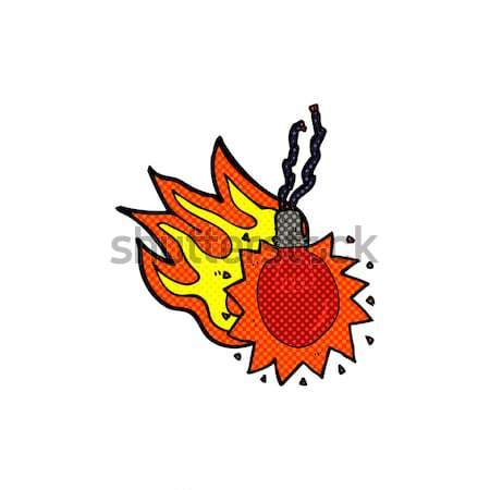 comic cartoon atom bomb Stock photo © lineartestpilot