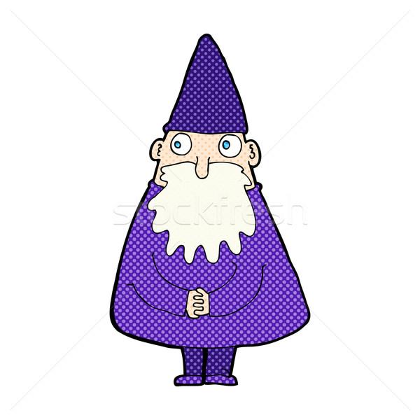 comic cartoon wizard Stock photo © lineartestpilot