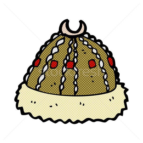 Dessinées cartoon médiévale chapeau rétro Photo stock © lineartestpilot