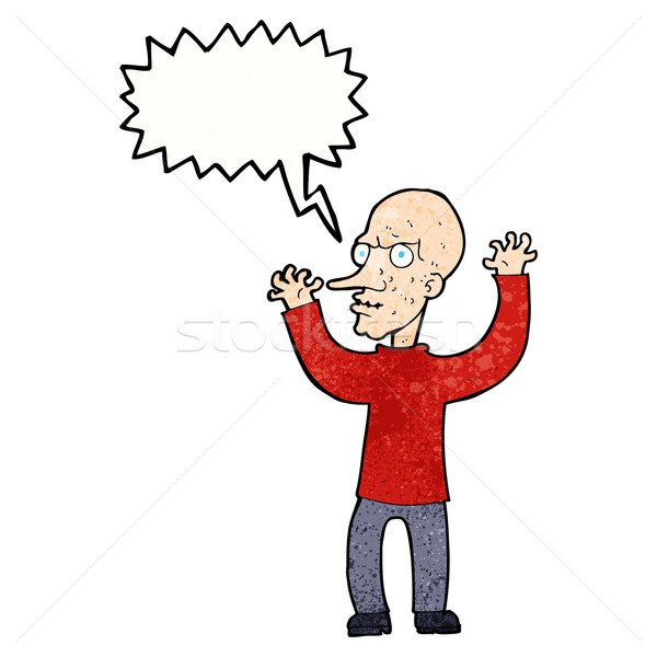 cartoon mean man with speech bubble Stock photo © lineartestpilot