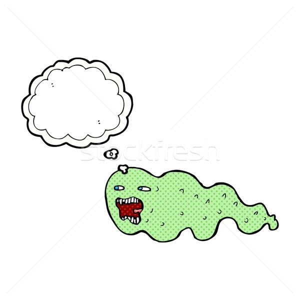 Cartoon fantasma burbuja de pensamiento mano diseno arte Foto stock © lineartestpilot