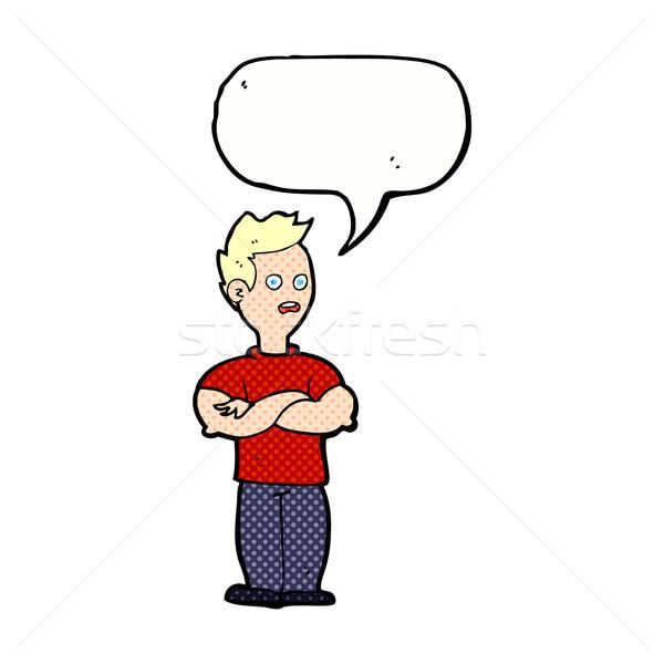 漫画 男 腕 吹き出し 手 デザイン ストックフォト © lineartestpilot