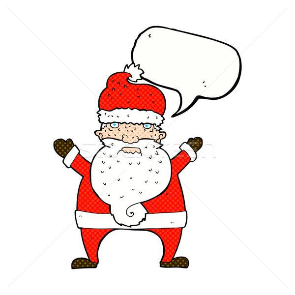 漫画 醜い サンタクロース 吹き出し 手 デザイン ストックフォト © lineartestpilot
