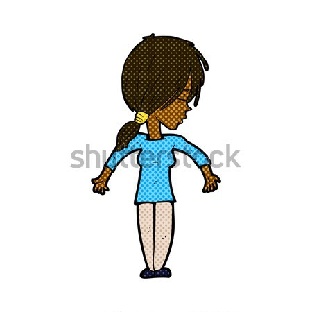 comic cartoon woman staring Stock photo © lineartestpilot