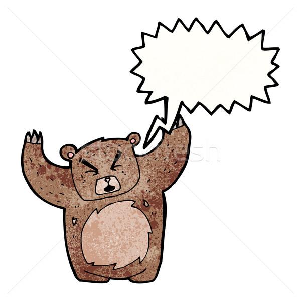 roaring bear cartoon Stock photo © lineartestpilot