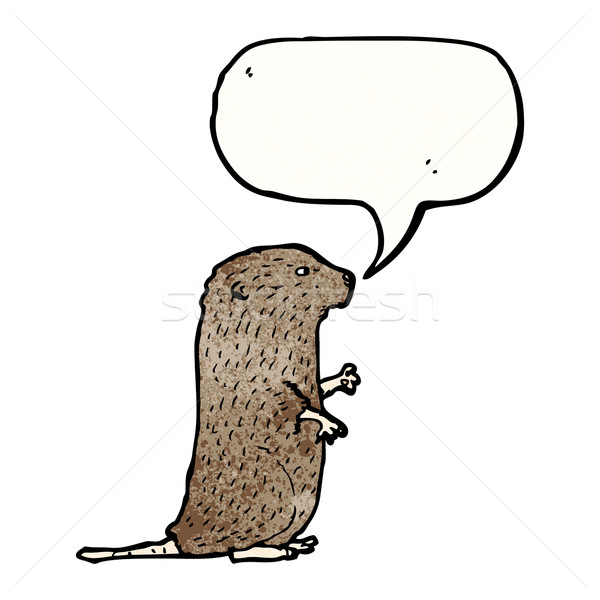 beaver illustration Stock photo © lineartestpilot