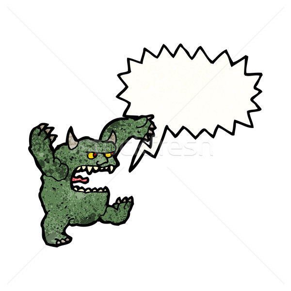 roaring monster cartoon Stock photo © lineartestpilot