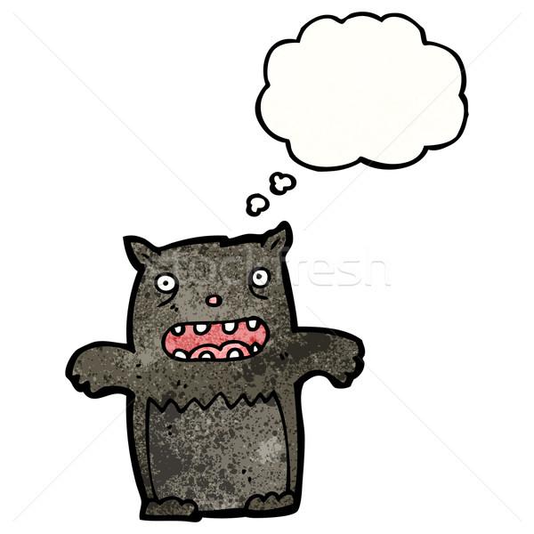 漫画 黒猫 黒 レトロな バルーン 図面 ストックフォト © lineartestpilot