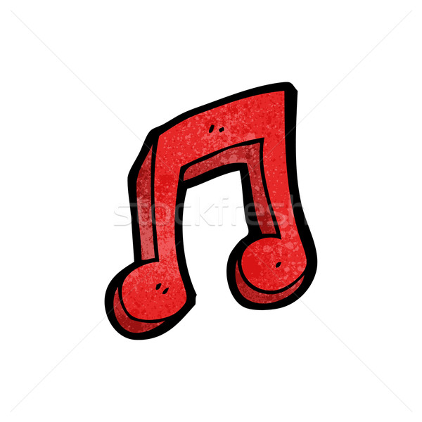 cartoon musical note symbol Stock photo © lineartestpilot