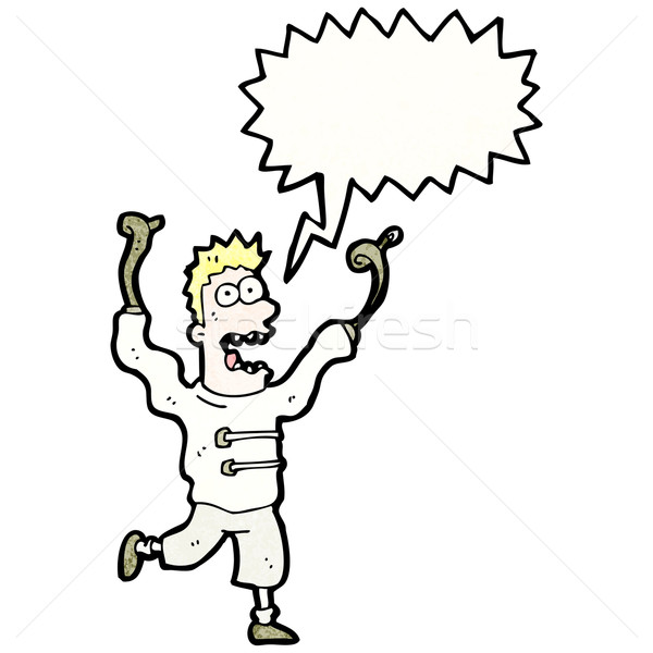 cartoon crazy man in straight jacket  Stock photo © lineartestpilot
