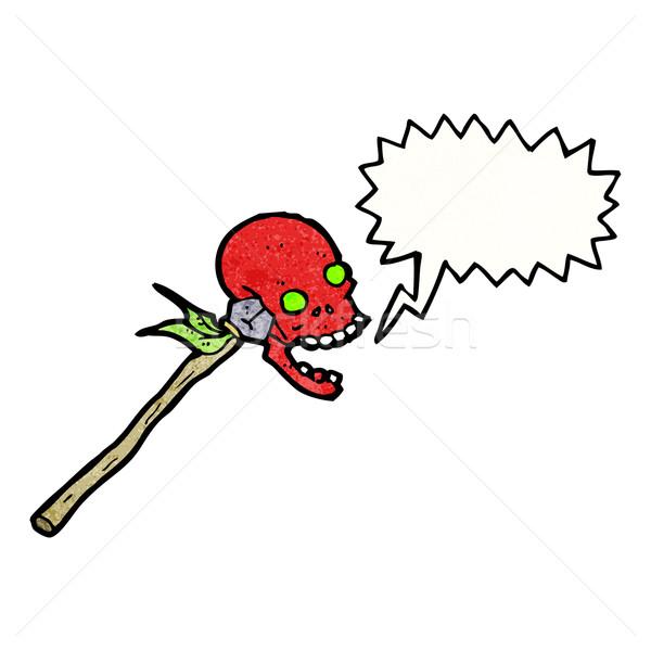cartoon shrieking skull Stock photo © lineartestpilot