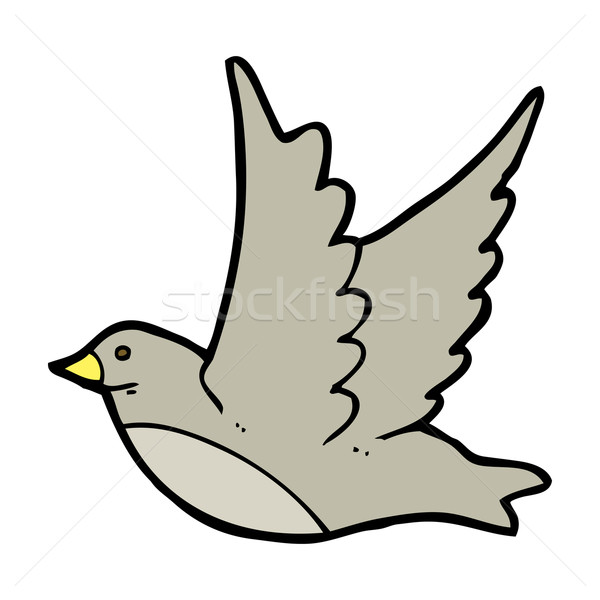 cartoon flying bird Stock photo © lineartestpilot