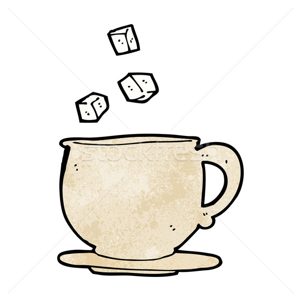 Karikatür çay fincanı dizayn sanat Stok fotoğraf © lineartestpilot