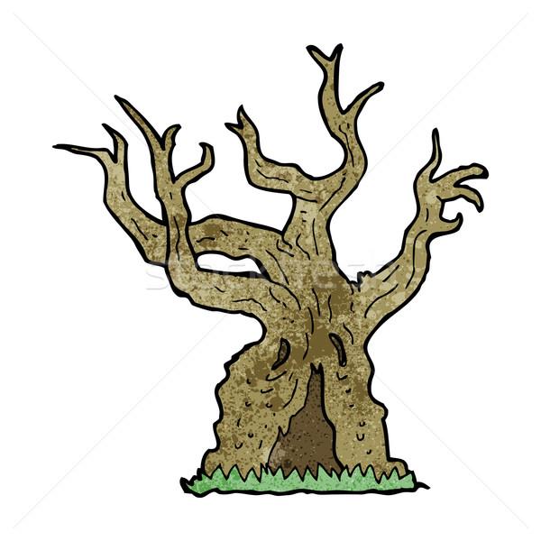 cartoon spooky old tree Stock photo © lineartestpilot