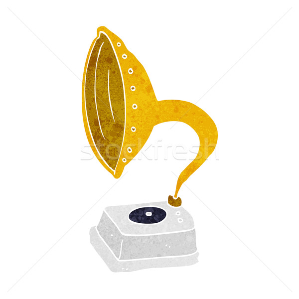 cartoon phonograph Stock photo © lineartestpilot