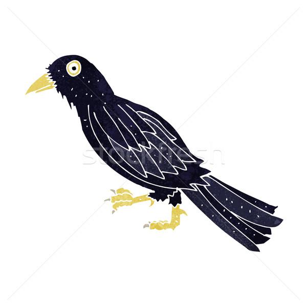 漫画 カラス デザイン 芸術 鳥 レトロな ストックフォト © lineartestpilot