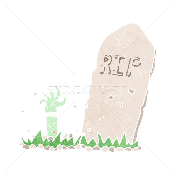 Desenho animado zumbi grave projeto arte Foto stock © lineartestpilot