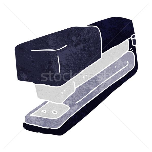 Karikatür ofis zımba el dizayn çılgın Stok fotoğraf © lineartestpilot