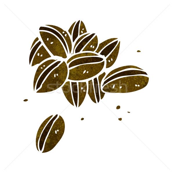 Karikatür kahve çekirdekleri el kahve dizayn çılgın Stok fotoğraf © lineartestpilot
