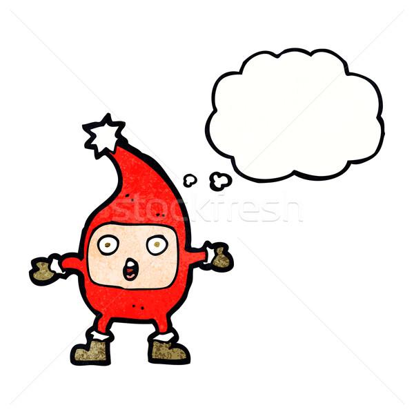 Karikatür komik Noel düşünce balonu el Stok fotoğraf © lineartestpilot