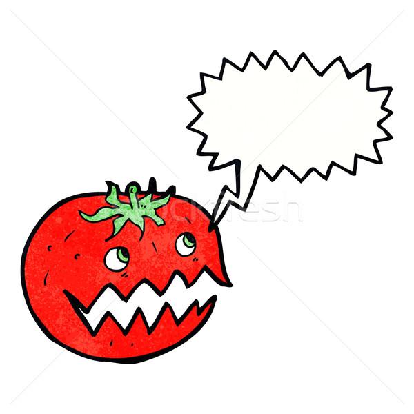 Desen animat tomate bule gandire mână proiect nebun Imagine de stoc © lineartestpilot