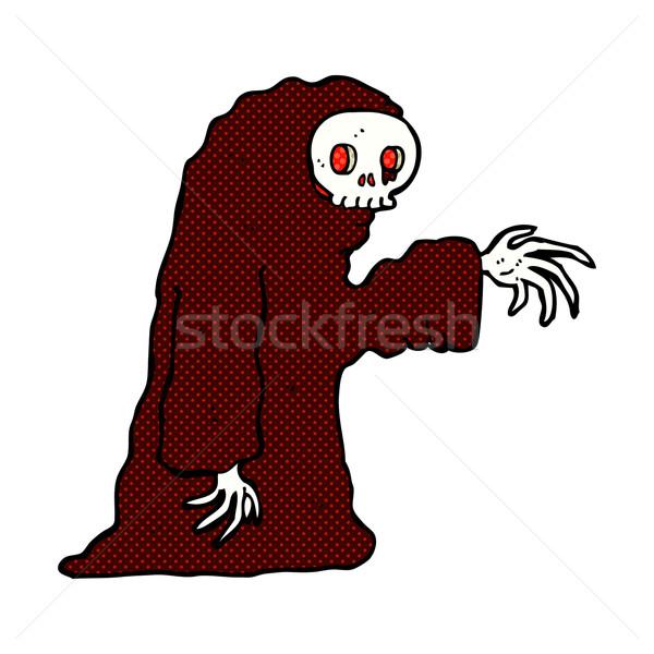 Képregény rajz ijesztő halloween jelmez retro Stock fotó © lineartestpilot