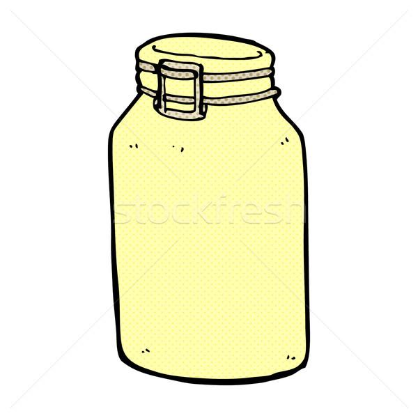 comic cartoon glass jar Stock photo © lineartestpilot