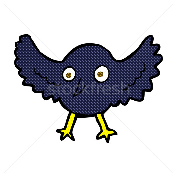 comic cartoon crow Stock photo © lineartestpilot
